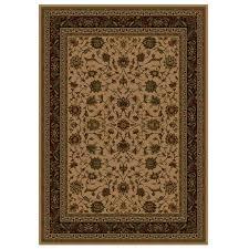 shaw living 91 x 5 5 natural palace kashan area rug
