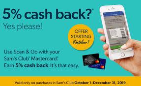 club mastercard 5 cash back on scan
