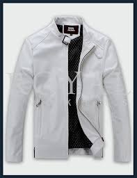 white racer leather jacket for men
