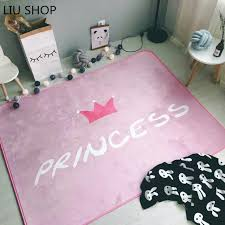 c colored area rug beautiful liu c fleece pink crown princess carpet suede velvet girl