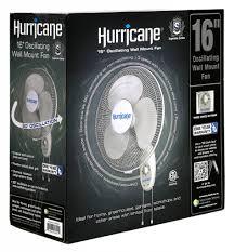 hurricane supreme oscillating wall mount fan 16 in 48 plt