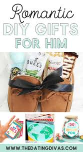diy romantic gifts for him banner
