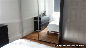 IKEA Pax Auli Sliding Mirror Door Wardrobe Design - YouTube