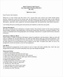 Parent Letter From Teacher Template Capriartfilmfestival