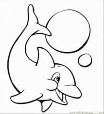 Dolphins Coloring Pages 5 Med Coloring Page Free Dolphin Coloring
