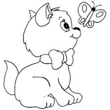 colouring pages of butterfly. Modren Butterfly Little Kitten Seeing The Butterfly Coloring Pages Throughout Colouring Of R