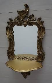 syroco ornate wall mirror with shelf
