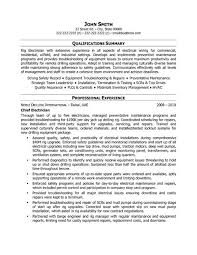 nuclear electrician resume industrial electrician resume sample