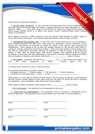Free Printable Contract Forms Free Printable Contract To Sell On Land Contract Form GENERIC 15