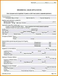 Real Estate Rental Application Form Template Apartment Sample Free ...