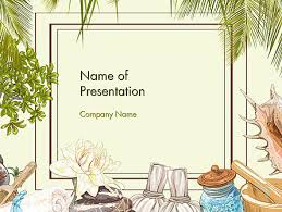 Spa Therapy Frame Powerpoint Template Backgrounds 14478