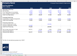 004 Template Ideas Cash Flow Statement Excel Image