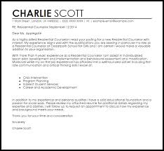 residential counselor cover letter sample residential counselor cover letter