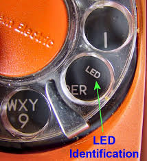 western electric products telephones trimline trimline indicated that the phone s dial is illuminated an led