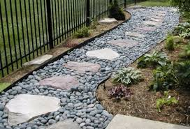 4 gravel and stone pathway