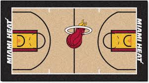 miami heat court runner rug