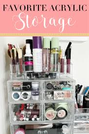 looking for great makeup storage that won break the bank i sharing with you how i my makeup using these acrylic storage
