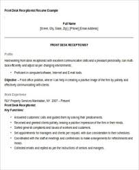 Receptionist Resume Objective 40 Examples In Word PDF Mesmerizing Front Desk Receptionist Resume