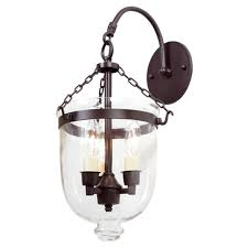 bell jar sconce with clear glass
