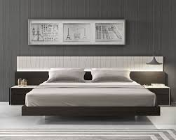 modern platform beds master bedroom furniture lacquered fashionable wood platform and headboard