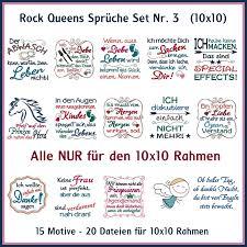Rock Queens Sprüche Set 03 Rock Queen Stickdateien