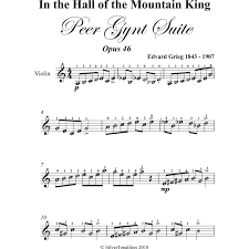 Additional gift options are available when buying one ebook at a time. In The Hall Of The Mountain King Easy Violin Sheet Music By Edvard Grieg