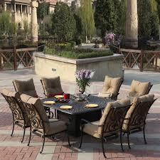 patio dining: darlee santa anita  piece antique bronze aluminum patio dining set