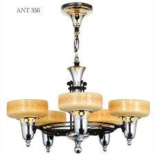 lovely circa 1936 streamline chandelier original antique chandelier with original antique shades