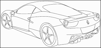 Cars Coloring Page Lamborghini Countach Doors Open Pages Sports 5