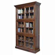 light brown wooden bookcase with three shelves plus double