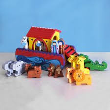 noahs ark small traditional wooden gift set first4christening christening gifts for boys
