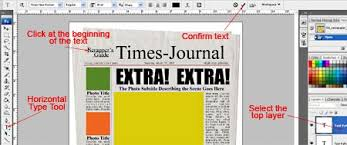 Newspaper Template For Photoshop Photoshop Tutorial Newspaper