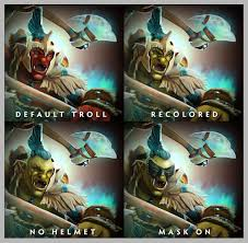 troll warlord color why red and not green like the artwork