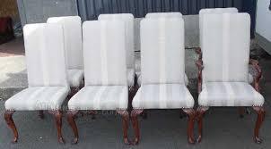 dining chairs mahogany upholstered. set 8 mahogany high back dining chairs upholstered