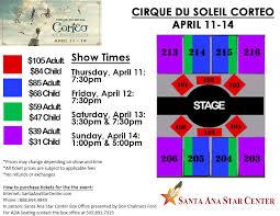 Santa Ana Star Seating Chart Cirque Du Soleil Corteo In Rio Rancho Nm Groupon