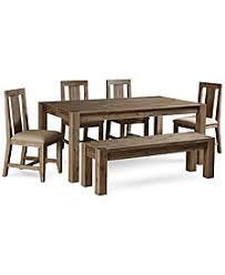 rustic dining table and chairs. Canyon 6 Piece Dining Set, Created For Macy\u0027s, (72\ Rustic Table And Chairs