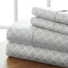 home collection ultra soft 4 piece quatrefoil bed sheet set 0