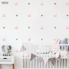 swan crown wall decal nursery decals