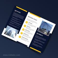 Free Builder Trifold Brochure Psd Indiater