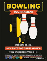 Bowling Event Flyer Template Free Bowling Flyer Template Word Psd Apple Pages