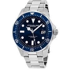 sport men s watches shop the best deals for 2017 stuhrling original men s quartz regatta stainless steel divers bracelet watch