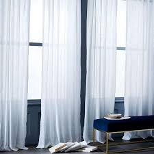 sheer crosshatch white curtains