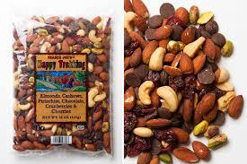 happy trekking almonds cashews pistachios chocolate cranberries cherries