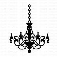 vintage chandelier silhouette at getdrawings com free for personal chandelier silhouette clip art