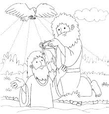 Baptism Coloring Page Pages Catholic Free B Is For Printable John