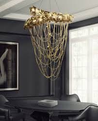 contemporary chandelier swarovski crystal gold plated brass halogen