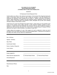 sp167 form free printable background check forms templates fillable