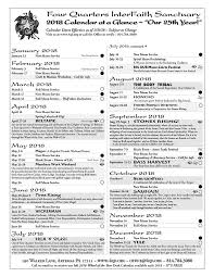 Calendar Quarters Master Schedule