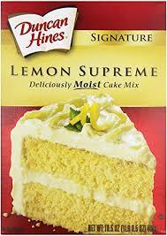 Amazoncom Duncan Hines Signature Cake Mix Lemon Supreme 165 Oz