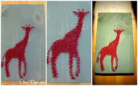 How To Do String Art Nine Red Giraffe String Art Tablet
